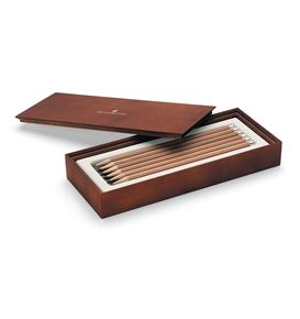 Graf-von-Faber-Castell - Wooden gift box with 12 graphite pencils